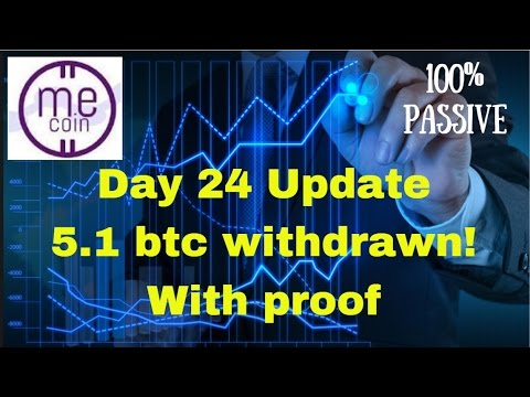 Mecoin Day 24 Update   Over 5 Bitcoin Withdrawn!!