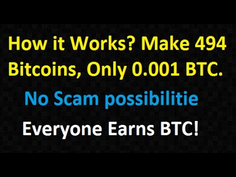 How it Works make 494 Bitcoins, Only 0.001 BTC | No Scam possibilitie, Everyone Earns BTC!
