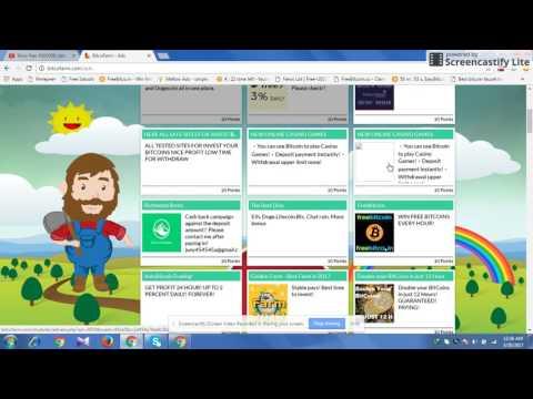 BitcoFarm sinple mouse click job start free to earn Bitcoin every time