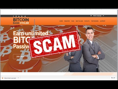 SCAM Bitcoin bank cycler scam don,t invest money before investing you should watch this video