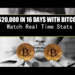 "$20,000 IN 16 DAYS    ""Bitcoin Exchange Rate""     Real Time Stats"