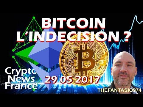 BITCOIN, L'INDÉCISION ? La Revue FR Bitcoin et Cryptos du 29 mai 2017 - Crypto News France