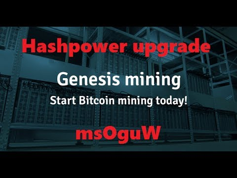 Genisis Mining Hashpower Upgrade!!!!