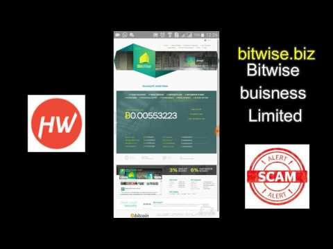BITCOIN INVESTMENT SCAM - Bitwise buisenes totaly scam