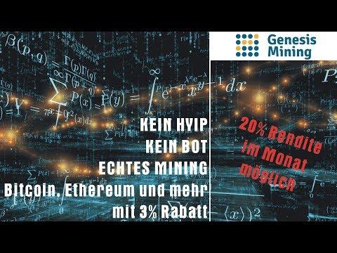 Genesis Mining Einzahlung - Bitcoin Mining (BTC)   Ethereum Mining (ETH)   Krypto Mining