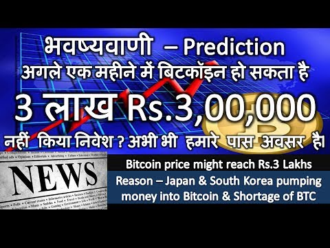 भवष्यवाणी - अगले एक महीने में बिटकॉइन Bitcoin हो सकता है Rs.3,00,000 !