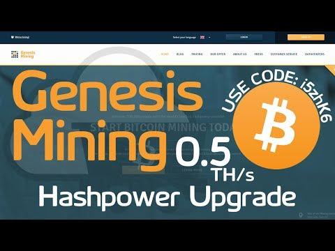 Genesis Mining | 0.5 THs Bitcoin Hashpower Upgrade