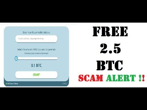 Earn Upto 2.5 BTC In Few Minutes Scam Alert !! Free Bitcoin Scam