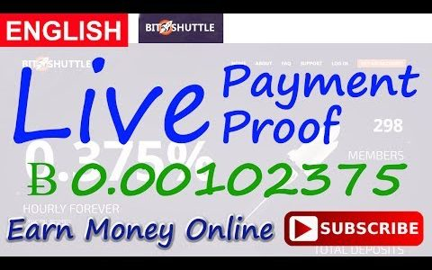 BitShuttle Live Payment Proof Review New Bitcoin Investment Site Scam or Legit New HYIP Site 2017