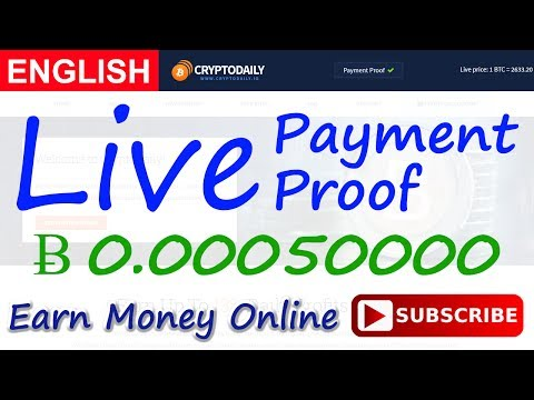 Cryptodaily Live Payment Proof Review New Bitcoin Investment Site Scam or Legit New HYIP Site 2017