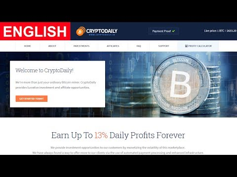Cryptodaily Payment Proof Review New Bitcoin Investment Site Scam or Legit New HYIP Site 2017