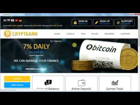CryptEarn Live Payment Proof Review New Bitcoin Investment Site Scam or Legit New HYIP Site 2017 1