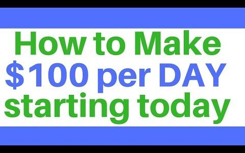 EARN MONEY ONLINE $100 A DAY | HOW TO MAKE MONEY ONLINE