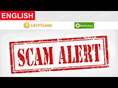CryptEarn Scam Alert BitColesium Scam Alert New Bitcoin Investment Site New HYIP Site 2017
