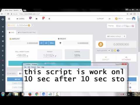 Bitcoin mining 1 bitcoin for 15 min Bitsler Bot and Script Hack Bitcoin 2017