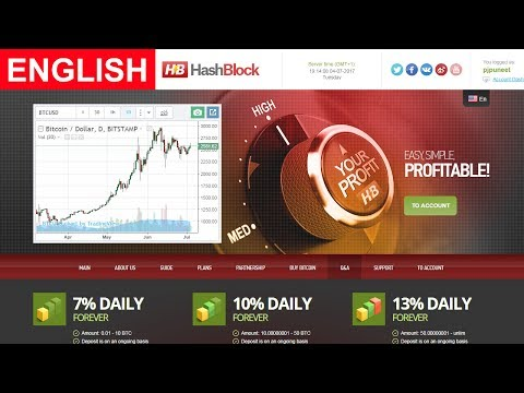 HashBlock Review New Bitcoin Investment Site Payment Proof Scam or Legit New HYIP Site 2017
