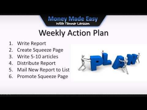 How to Make Money Online with free Reports|video10|action plan