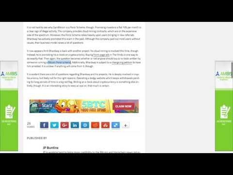 Gainbitcoin Cloud Mining Scam   Ponzi Scheme