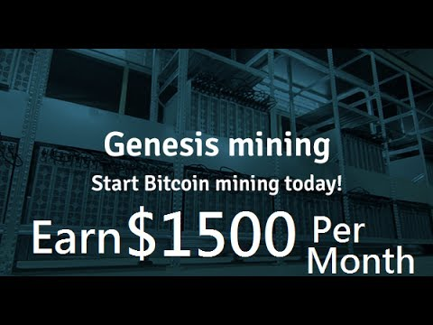 Earned Over $1,500 in a month on Genesis Mining !