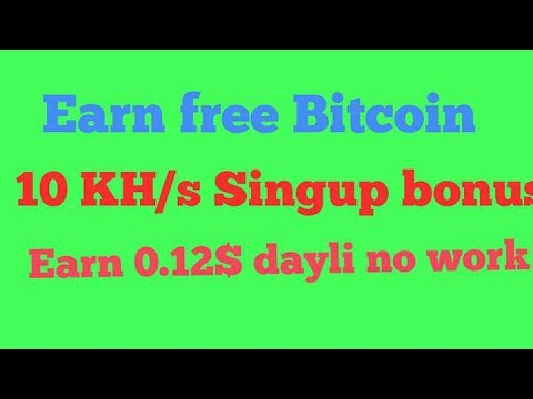 Earn free bitcoin new mining site.