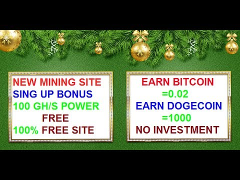 Earn Unlimited Bitcoin For Free Mining Site!100 GH/S Power Free!Earn Btc 0.02!No Work Required!!