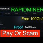 RapidMiners / 100Ghs Free Bitcoin Mining Site 2017/ Paying Or Scam Proof