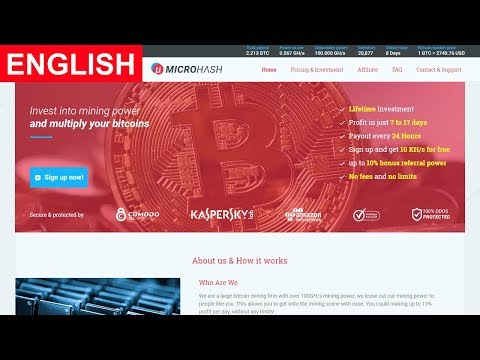 MicroHash Bitcoin Cloud Mining Free 10 KH/S Paying or Scam Payment Proof 2017