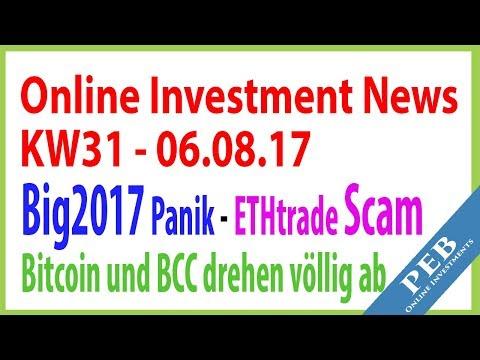 Online Investments Deutsch 2017 [KW31] ★ CryptoGold   ETHtrade Scam   Bitcoin Cash deutsch