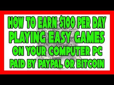 How to Make Money Online $100 per Day Playing Easy Computer PC Games for FREE Get paid by Paypal