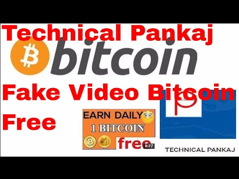 Technical Pankaj Youtuber Fake Video For Bitcoins Free Scam For You tube Views 2017