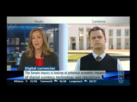 Ron Tucker speaking on ABC News about The Senate Inquiry into Digital Currencies