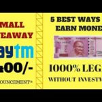 5 ways to earn money online in Telugu | How to make money online fast from home |100% earnings