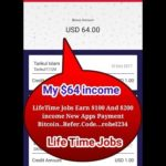 LifeTime Jobs Earn $100 And $200 income New Apps Payment Bitcoin..Refer.Code…robel234