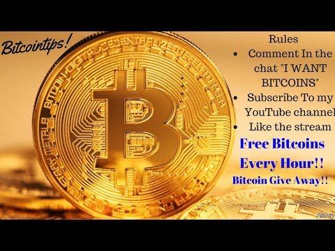 Bitcoin Give Away!! Win Free Bitcoins Every Hour!!