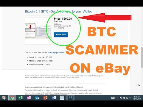 I Bought Bitcoin From An eBay Scammers.... Here's What Happened