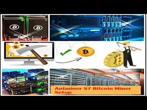 Bitcoin mining Antminer S7 Bitcoin Miner Setup