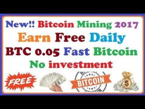 New!! Bitcoin Mining 2017 || Earn Free BTC zero.05 Daily || Fast Bitcoin, No funding
