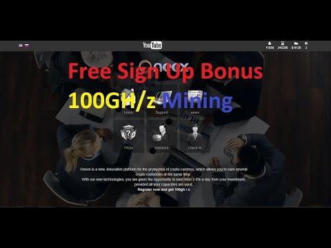 bitcoin mining   100Gh/s Sign up bonus