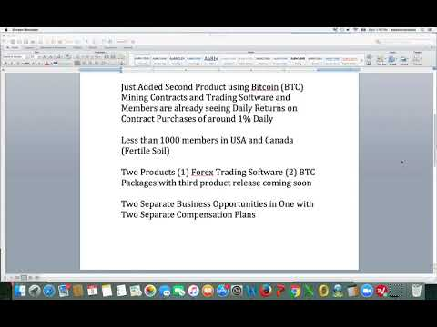Crypto- USI Tech Overview - BitCoin Mining, Plus Forex and Bitcoin Trading