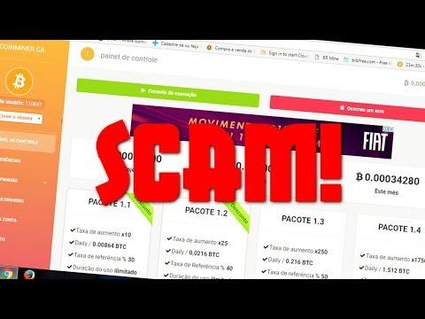 BITCOIN TESTE - COINMINER é uma FRAUDE (Scam)