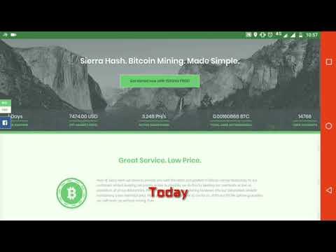 Bitcoin cloud mining new website | SierraHash | Scam or legit
