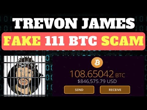 Trevon James Shows Over Fake Bitcoin Scam Avoiding IRS Taxes