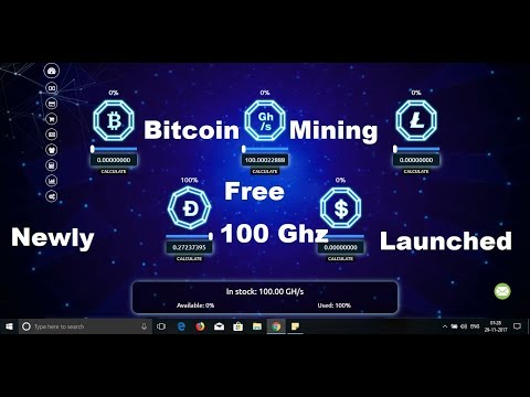 New Free Bitcoin Mining Site Launched || Sign up Bonus 100 Gh/s free|| In English & Hindi