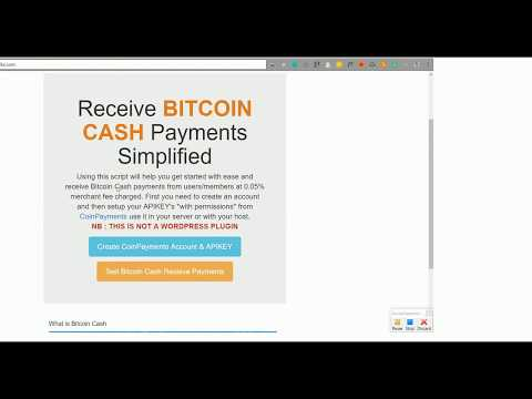 BCH Bitcoin Cash Receive CoinPayments