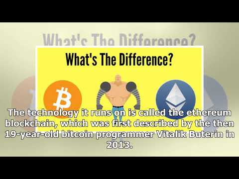 What is ethereum and how does it differ from bitcoin?| BBC News Channel