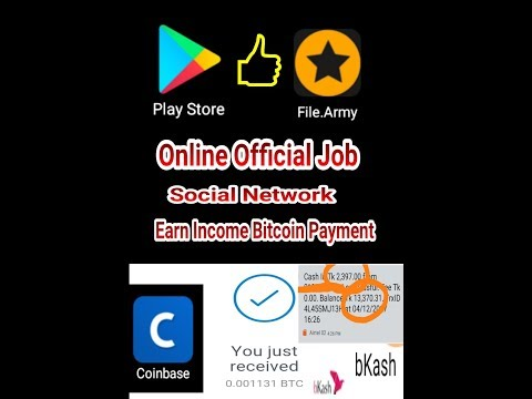 Online Official Job Social Network Earn Income Bitcoin Payment