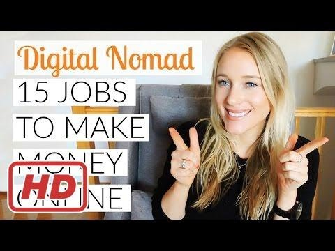 BECOME A DIGITAL NOMAD: 15 JOBS TO MAKE MONEY ONLINE# 1000$ a day