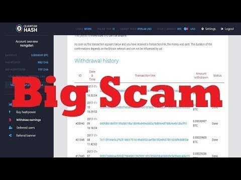 [Noted] Quantum hash no payment - The cloud mining bitcoin had scam