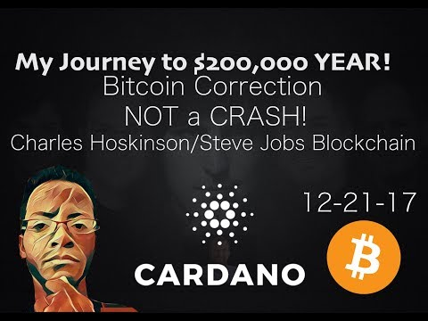 Bitcoin | Correction | Cardano Hoskinson Job | Update