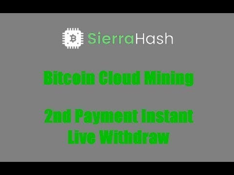Sierra Hash   Bitcoin Cloud mining   Payment